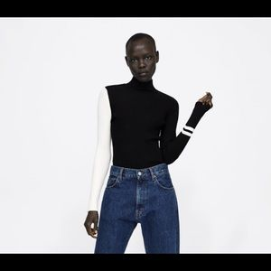 🖤ZARA Colorblock Turtleneck🖤